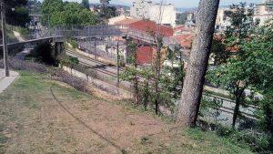 Estat inicial del Talús llindant amb el carrer de La Perla, Rubí
