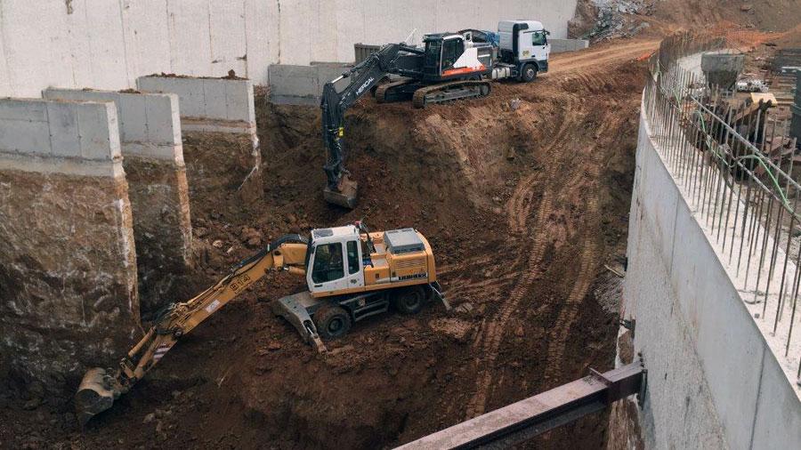 Excavacions per a la formació de soterrani