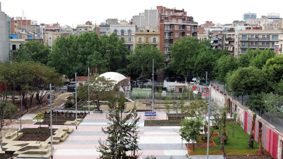 Proyectos Obra civil Hercal: Renovació de la plaça de les Germanetes, a Barcelona