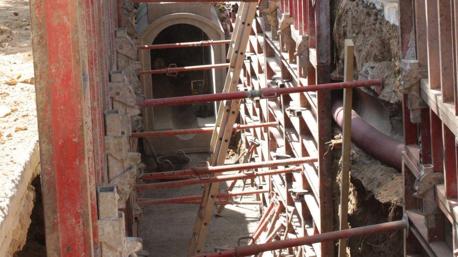 Entibación para la construcción de nuevo alcantarillado
