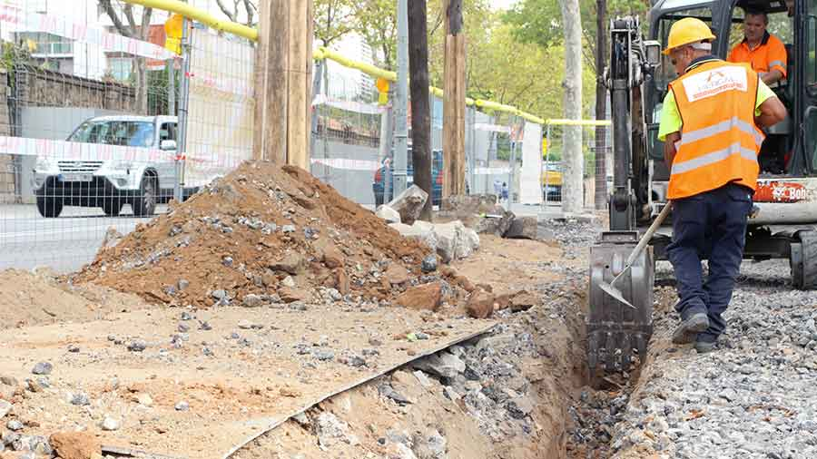 Ampliación de aceras. Hercal ejecuta el proyecto de urbanización en Sarrià-Sant Gervasi