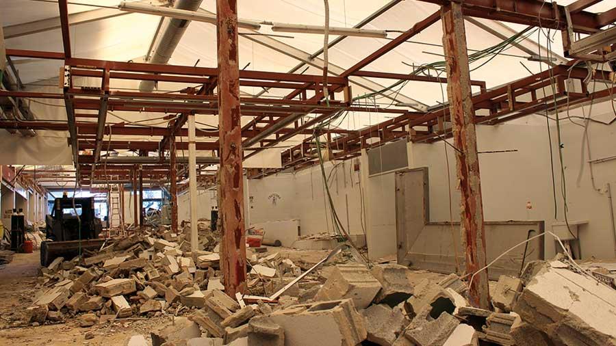 Hercal executa la demolició del mercat provisional La Florida