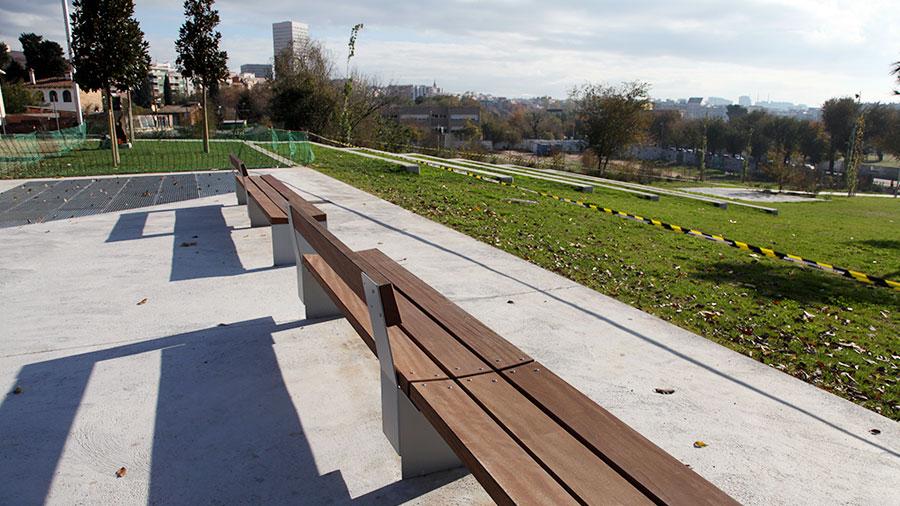 Hercal ha executat les obres d'arranjament d'espai adjacent a l'avinguda Francesc Macià, al Parc de Can Zam.