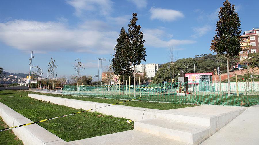 Obras de mejora del espacio publico Can Zam