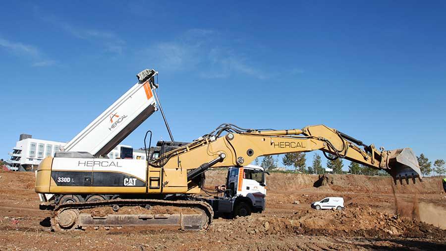 Excavación y movimiento de tierras. Hercal